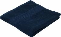 Махровое полотенце темно синее гладкокрашеное 50х90