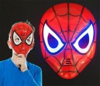 Маска пластиковая с подсветкой человек паук Spiderman