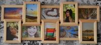 Мультирамка Воспоминания на 10 фото (Натуральное дерево)