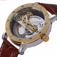 Мужские Скелетон часы Fuyate Air Gold