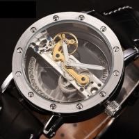Мужские Скелетон часы Fuyate Air Silver