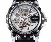 Мужские Скелетон часы Winner Platinum