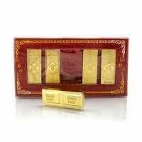 Набор золотых слитков (5шт) 14см