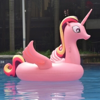 Надувной матрас Единорог Pink 200см