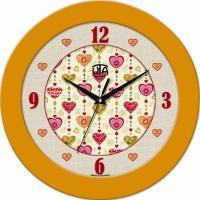 Настенные Часы Fashion Влюбленные Сердца Yellow