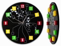 Настенные Часы Молекулы Black