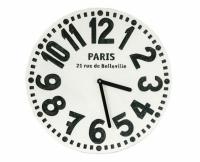 Настенные часы Париж (белый)