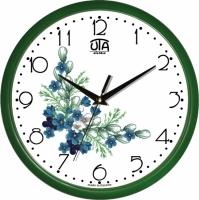 Настенные Часы Сlassic Букет незабудок Green