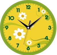 Настенные Часы Сlassic Цветущая Полянка