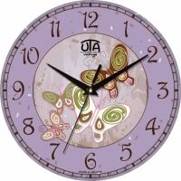 Настенные Часы Vintage Бабочки (фиолетовые)