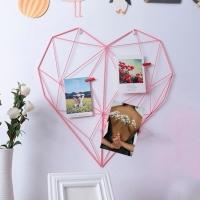 Фото Настенный органайзер Мудборд (moodboard) розовый