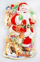 Новогоднее панно Дед Мороз, 77см