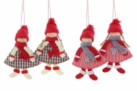 Фото Новогоднее украшение Куколки 17 см