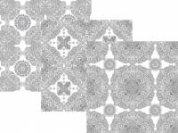 Обои раскраска Мандала из 3шт 60х60