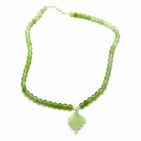 Ожерелье нефритовое с кулоном 23 см
