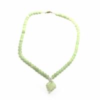 Ожерельлье нефритовое с кулоном 33см