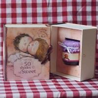 Подарочная книга с дизайном Гапчинской 50 оттенков сладкого