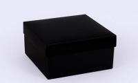 Фото Подарочная коробка Grand черная 14х14х7 см