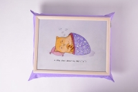 Фото Поднос на подушке Ленивый кот