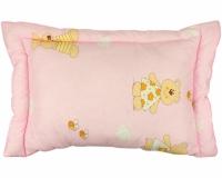Подушка детская розовая 40х60