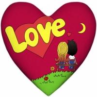Фото Подушка Love is сердце Red