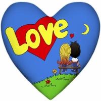 Фото Подушка Love is сердце