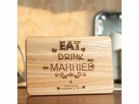 Разделочная доска именная Ешьте, пейте, женитесь