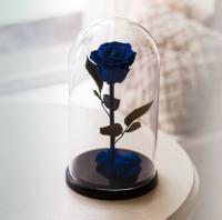 Роза в Колбе Синий Сапфир 7 карат