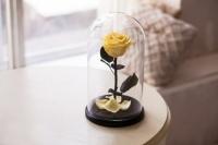 Роза в Колбе Желтый Топаз 7 карат