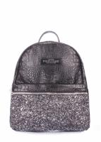 Рюкзак мини Glitter black