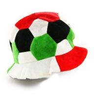 Фото Шапка Футбольный мяч красно-зеленая