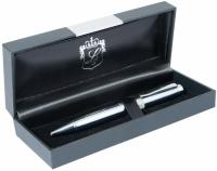 Шариковая ручка в подарочном футляре Плутон silver