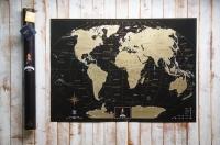 Фото Скретч карта My Maps Black edition на Английском в тубусе