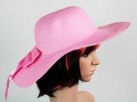 Соломенная шляпа Инегал 40 см розовый