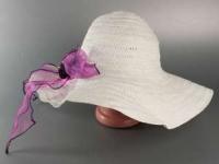 Соломенная шляпа Силько 46 см белая