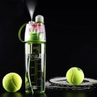 Фото Спортивная бутылка для воды с распылителем New B green