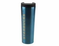 Термокружка глянцевая тамблер Starbucks 473мл (Blue)