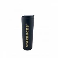 Термокружка матовая тамблер Starbucks 473мл (Black)