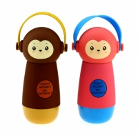 Термос обезьянка в наушниках, 4 вида