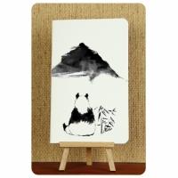 Тетрадь Панда черно-белые зарисовки 3