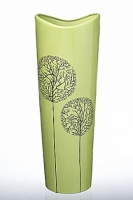 Ваза глянцевая Деревья зеленая 39 см