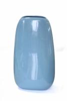 Ваза глянцевая овальная голубая 32,5 см