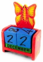 Вечный Календарь Цветущая Бабочка Red