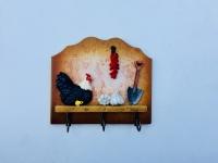 Фото Вешалка-ключница кухонный домик