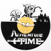 Виниловые часы Adventure time