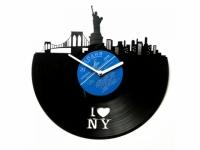 Фото Виниловые часы I love NY