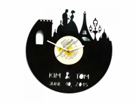 Фото Виниловые часы именные Париж