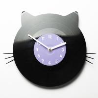 Виниловые часы Котя