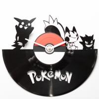 Виниловые часы Pokemon