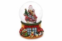 Фото Водяной шар Музыкальный Дед Мороз на санях